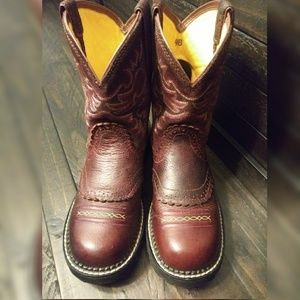 Women's Ariat Fatbaby Fiddle Brown Cowgirl Boot